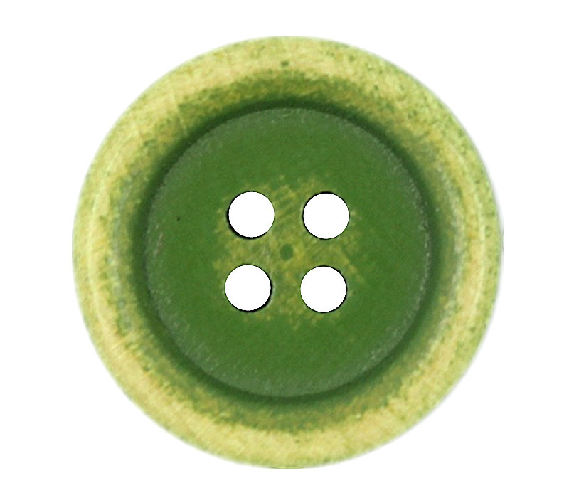 Retro Brushed Effect Lime Green Wooden Buttons - 21mm - 13 ...