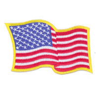 Wavy American Flag Patch