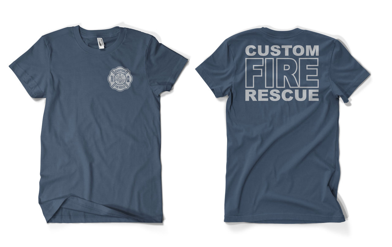 Custom fire rescue duty shirt for Meadowood mall custom t shirts