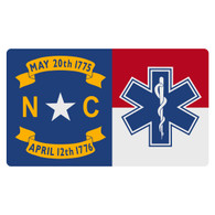 North Carolina Flag with Star of Life Decal