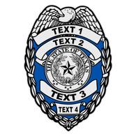 Custom Texas Badge Decal