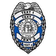 Custom Georgia Badge Decal