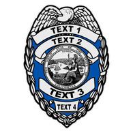 Custom California Badge Decal
