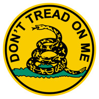Round Don't Tread On Me Decal