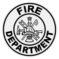 Round Fire Deparment Decal