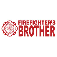 Firefighter's Brother Clear Window Sticker