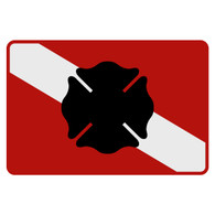 Dive Flag - Maltese Cross Decal