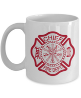 Fire Chief 11 oz. White Coffee Mug