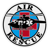 Round Air Rescue Decal
