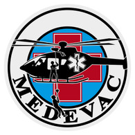 Round MEDEVAC Decal