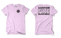 Custom Pink Fire Department Duty Shirt
