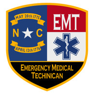NC Emergency Medical Techinican Certified Patch Decal