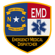 NC Emergency Medical Dispatcher Certified Patch Decal