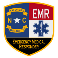 NC Emergency Medical Responder Certified Patch Decal