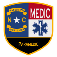 NC Paramedic Certified Patch Decal