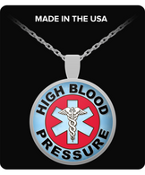 High Blood Pressure Medical Charm Necklace
