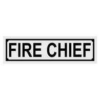 Fire Chief Title Decal