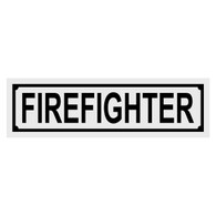 Firefighter Title Decal