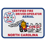 North Carolina Certified Fire Driver/Operator Aerial Patch Decal