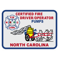 North Carolina Certified Fire Driver/Operator Pumps Patch Decal