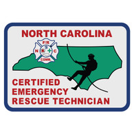 North Carolina Certified Emergency Rescue Technician Patch Decal