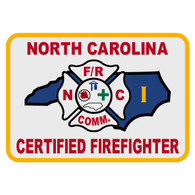 North Carolina Certified Firefighter Level 1 Patch Decal