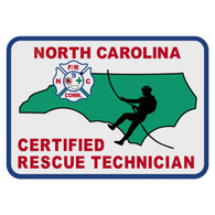 North Carolina Certified Rescue Technician Patch Decal