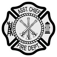 Asst. Chief Maltese Cross Decal