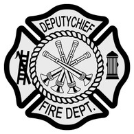 Deputy Chief Maltese Cross Decal