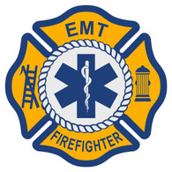 EMT Firefighter Maltese Cross Decal