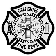 Firefighter Maltese Cross Decal