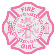 Fire Girl Maltese Cross Decal