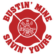 Bustin' Mine Savin' Yours (Scramble) Maltese Cross Decal