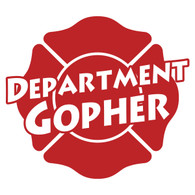 Department Gopher on Maltese Cross Decal