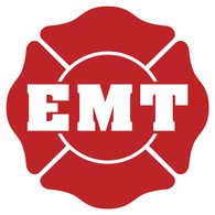 EMT on Maltese Cross Decal