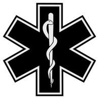 Star of Life with Border (Other Colors) Decal