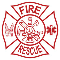 Fire Rescue (Tools) on Maltese Cross Decal