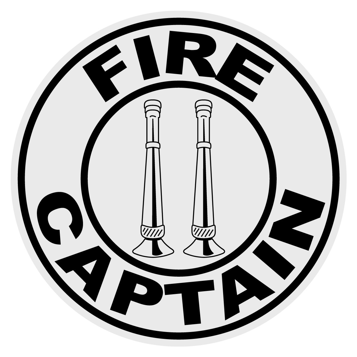 Round Fire Captain Decal