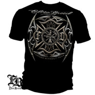 Elite Breed Firefighter Black Silver Foil T-Shirt (THF2070)