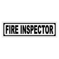 Fire Inspector Title Decal
