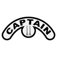 Captain with Vertical Bugles Extended Helmet Crescent