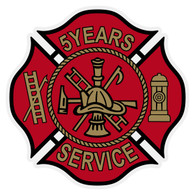 Maltese Cross Years of Service Decal