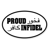 Proud Infidel Oval Decal