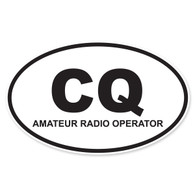 CQ (Amateur Radio Operator) Oval Decal