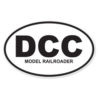 DCC (Digital Command Control Model Railroader) Oval Decal