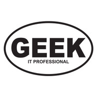 GEEK (IT Professional) Oval Decal
