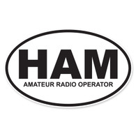 HAM (Amateur Radio Operator) Oval Decal