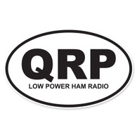 QRP (Low Power Ham Radio) Oval Decal