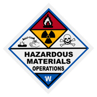 Hazardous Materials Operations Decal