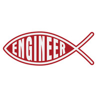 Engineer Christian Fish Decal